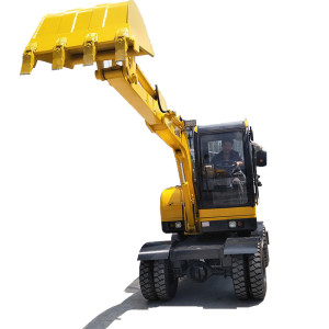 new price china 3.5t mini wheel excavator