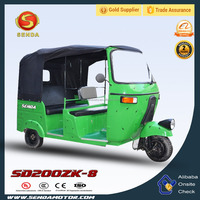 New Products Made in China 200CC Water Cooled Engine Passenger Bajaj Tricycle Tuk for Sale SD200ZK-8