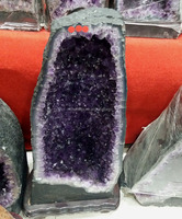 Natural Brazil large rock purple amethyst crystal geodes crystal cluster for sale