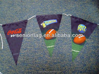polyester Bunting string flags printed with custom advertising design