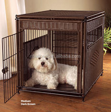 Home & garden wicker rattan dog cages pet dog house and rattan dog furniture
