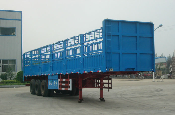 Manufacturer HUAYU Best-selling 3 axles cargo fence semi trailer