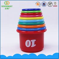 Funny plastic speed stacking cups game baby intelligence toy