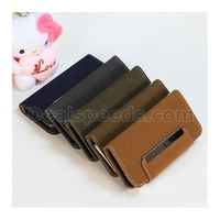 Magnetic Leather Wallet Flip Stand Skin Covers for iPhone 5S/5 with Card Slots