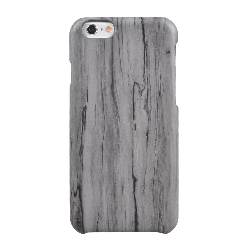 Wholesale pu leather material wooden cell phone case for iphone 6