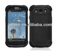 case for SOOPER Black Defender Heavy Duty Protective Hard Full Body Cover Case for Samsung Galaxy i9300 S3 (Black)