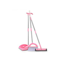 Durable home long handle cleaning plastic broom and dustpan sets