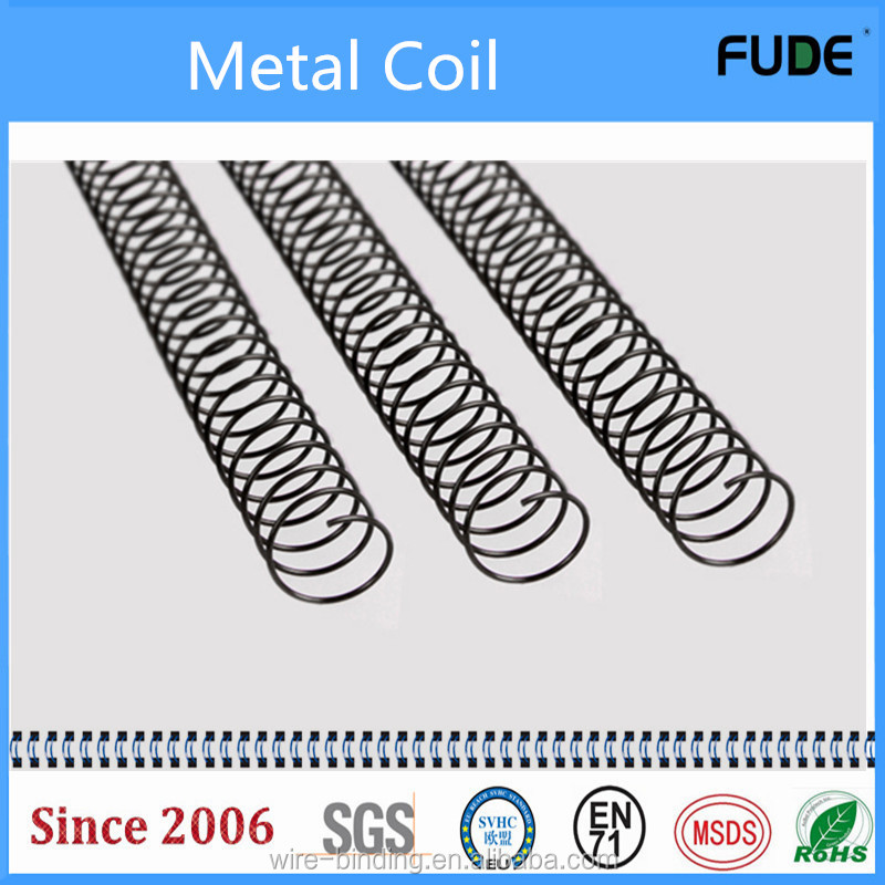 Cheap 50mm 12 inch and 36 inch metal single spiral binding coil for book binding