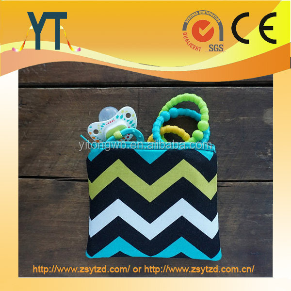 Custumized Size Zipper cotton purse,pacifier pouch,toy storage bag