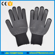 Cheap Price PVC Dot On The Palm Black Knitted Nylon Glove Working Safety Glove