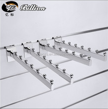 19mm round tube 5 balls clothing hooks metal wall hook for mdf