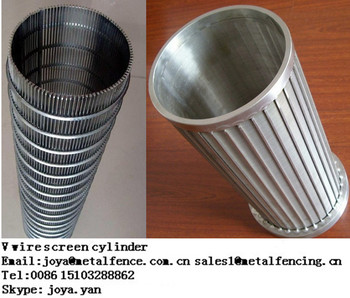 Wedge wire screen oil filter tube