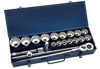 WILLIAMS 33901 20 PIECE DRIVE SOCKET LOK TOOL SET with Metal Tool Box
