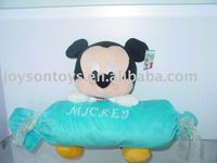 plush mickey mouse with a candy