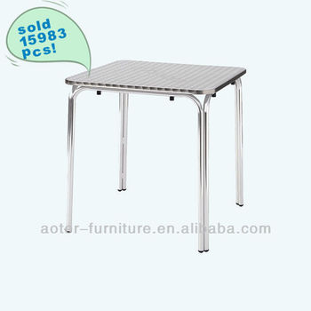 Outdoor brushed aluminum table