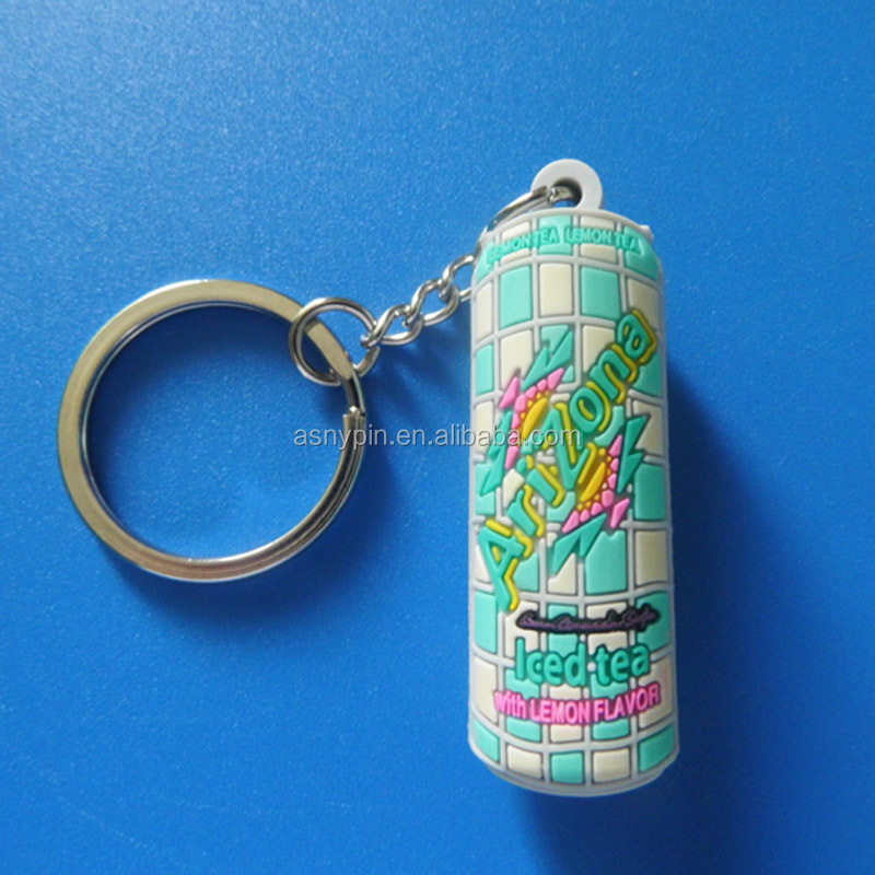 decoration 3d bottle shape rubber keychain, silicone keyholder for promotion gift