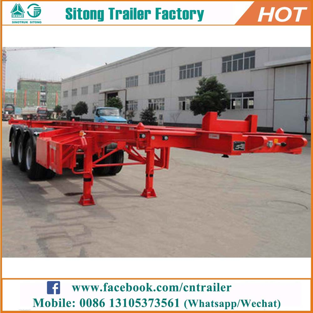 Factory price skeletal trailer dimensions customized shipping container truck trailer