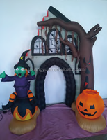 inflatable tree with the pumpkin and witch , christmas decoration