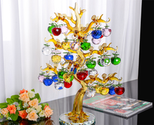 Chirstmas Tree Hanging Ornaments Crystal Glass Apple miniature Figurine Natale Home Decorations Figurines Crafts gifts