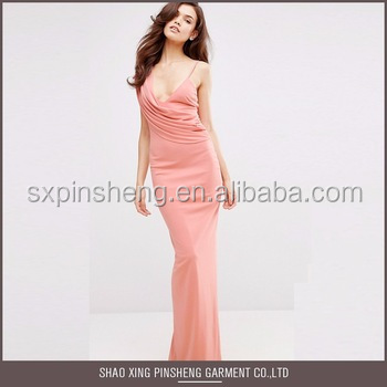Smooth material sexy silk night sleeping dress