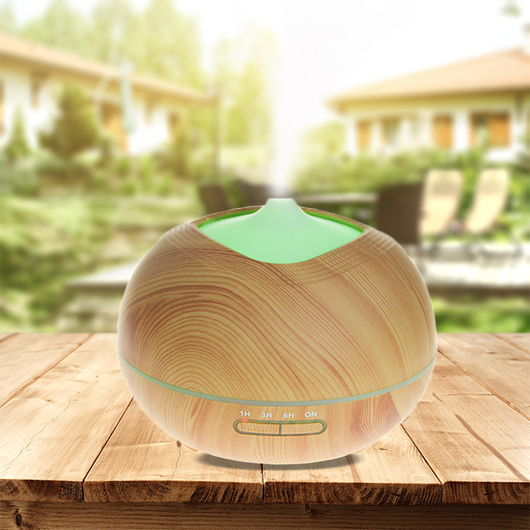 Wooden Mini Ultrasonic Air Cleaner Humidifier, Professional Humidifier LED Aroma Diffuser