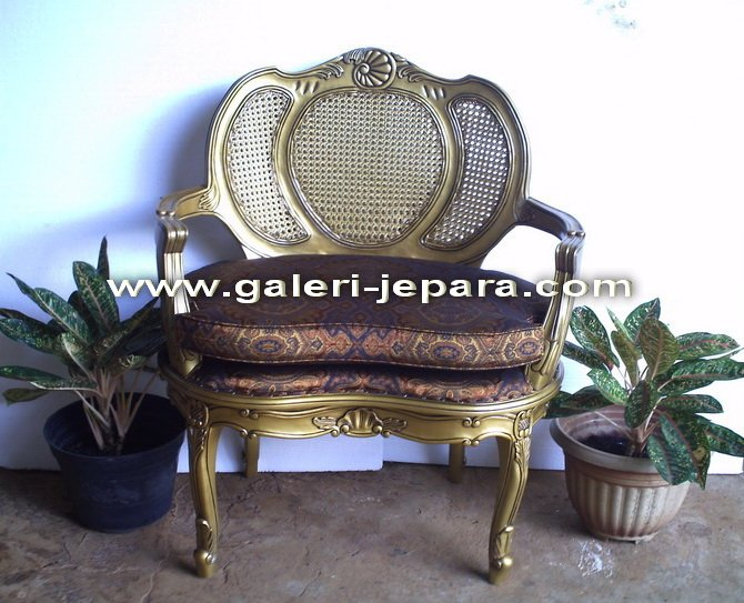 Koren Style Furniture - Rattan Furniture Jepara - Single Chair with Arm