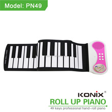 Electronic Music In English China Victory roll up piano 49keys educational supplies waterproof baby musical instrument