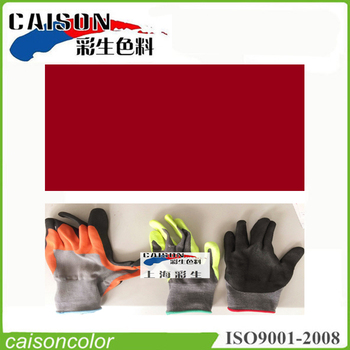 Bright red printing and dyeing for insulation gloves