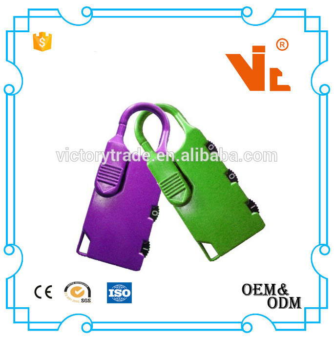 V-GF21-24 Custom 3 Digital Resettable Notebook Letters Combination Metal Padlock With Competitive Price