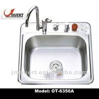OT-6356A cUPC Stainless Steel Kitchen Sink, Bowl Water Metal Trough