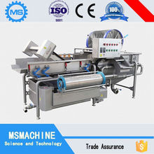 big manufacture of automatic stainless steel potato/carrot/apple vegetable and fruit washing machine