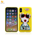 New Products 2018 Cartoon Phone Case Mirror Back Cover Case For iPhone X Mirror Case
