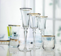 clear handmade champagne glass drinking glasses