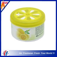 70g cheap lemon scents hot sell gel car air freshener