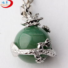 Hollow Ball Healing Point Chakra Pendant Quartz Crystal Gemstone Beads For Necklace