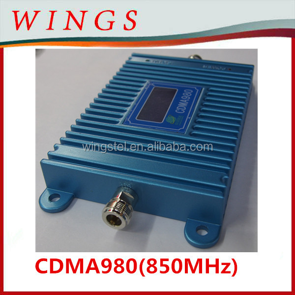 Blue CDMA980 850Mhz cellphone signal booster