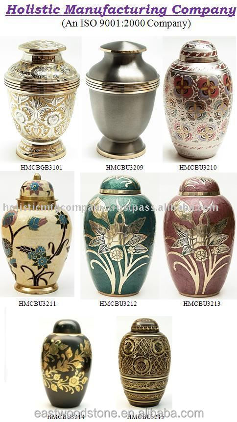 wholesales made of brass urns for cremation