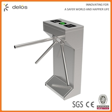 factory price rfid reader stainless steel full automatic vertical tripod turnstile