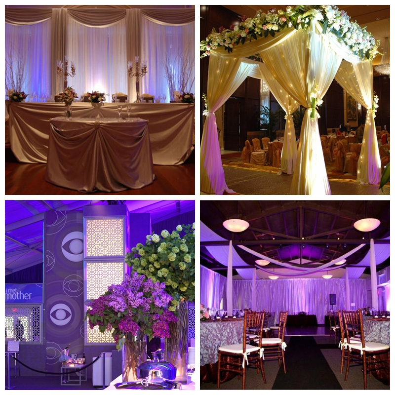 Used portable indoor pipe and drape kits | photo booth wedding