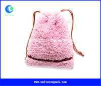 Anti-shock coral fleece jewelry pouch/phone pouch with drawstring