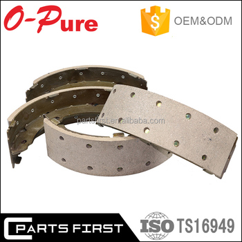 ISO/TS 16949 E-Mark Wholesale OEM High Quality Non-asbestos Original Car Break Shoes Front Rear Brake Shoes Lining Manufacturer