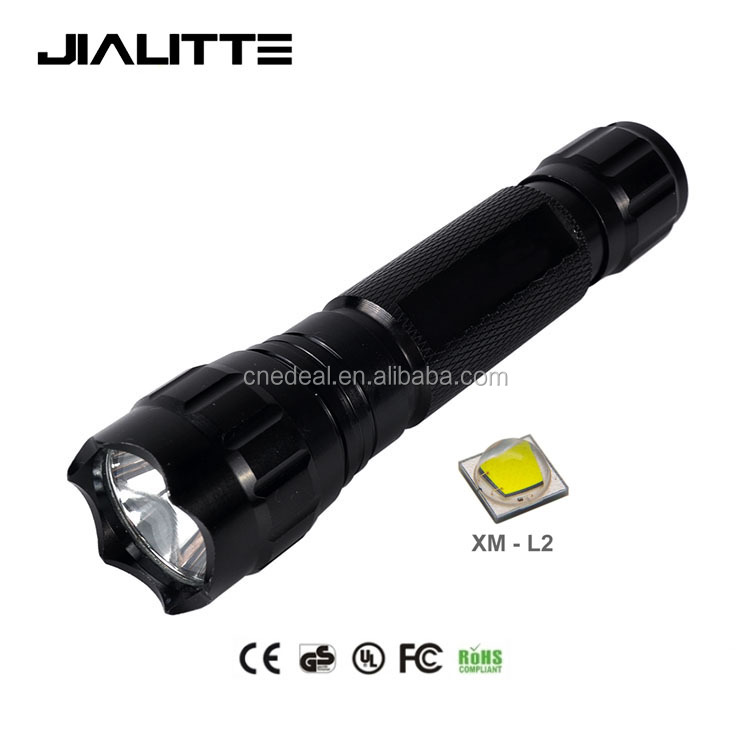 Jialitte F023 CREEs XM-L2 <strong>U2</strong> LED Single Mode 1800 Lumen <strong>Mini</strong> Portable Tactical Handheld Flashlight Torch Lamp