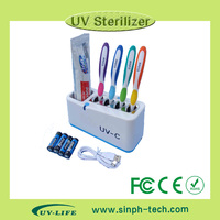 Baby product UV light toothbrush holder/box/case sanitizer/sterilizers/disinfectors