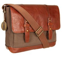 2013 best canvas messenger bag with leather trim