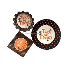Halloween decorative paper party paper tableware ( paper cup,paper bowl,napkin)