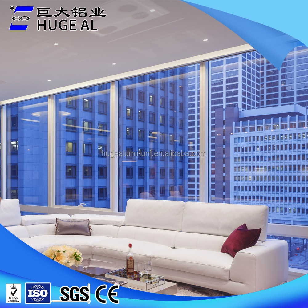 Supply all kinds of office interior fixed window with good quality