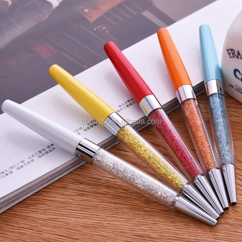 5starwarehouse® 6x Colourful Crystal 2in1 Ballpoint Pens & Stylus - 5star  Cloth Included