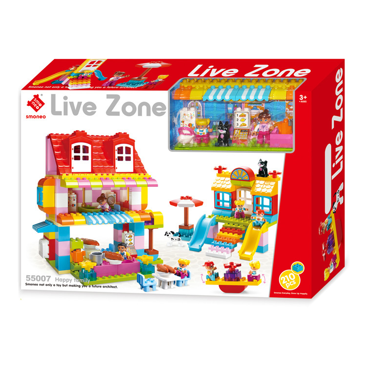 Play house star kazi duplo smoneo plastic building blocks toy for children 210 PCS