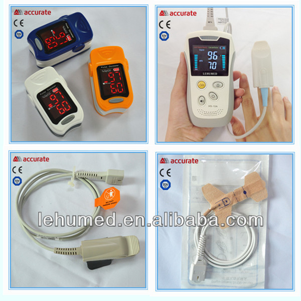 Fingertip Pulse Oximeter CE FDA Approved - Digital Blood Oxygen and Pulse Sensor Meter with Alarm - SPO2 and PR