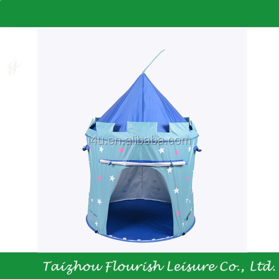 Outdoor UV protection children folding play castle tent for boy